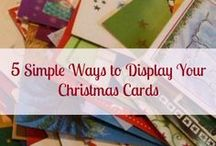 Christmas Card Display Ideas / Different ideas on how to display Christmas cards in your home.