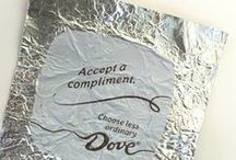 DOVE Chocolate PROMISES / Have a truly unique moment with each individually wrapped piece and special PROMISES® message under the wrapper.