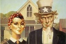 GW American Gothic / ***** by Grant Wood ***** & others