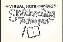Sketchnotes / french Illustrators Helene Pouille or Louison