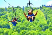 4000' Twin Zip-Flyer / Flights depart daily on Camelback Mountain Adventures' Twin Zip-Flyers. Race side-by-side as you fly from the summit of Camelback Mountain back to its base on the longest Zip-Flyers in North America!