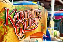 Kartrite's Quest / Find remnants from Kartrite's journey's to distant lands. Explore almost 100 interactive water effects or relax in the zero-depth pool at the base of water play structure. Enjoy 6 different waterslides of various thrill levels.