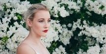 Flower portrait / Stunning portraits of women with flowers incorporated into the images.