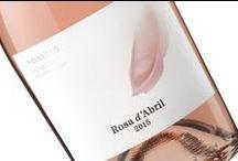 "Rosa d'Abril / Packaging design for rosé wine ""Rosa d'Abril"" of Torelló."