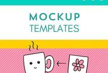 Mock ups für deine Designs / Mock ups machen Spaß. Denn so kann man sehen, wie das eigene Design/ die Illustration auf einem Produkt aussehen würde, ohne es gleich irgendwo drucken lassen zu müssen. Hier findest du eine Bibliothek an Mock Up Templates und Tutorials.