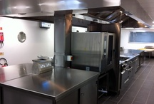 Commercial Kitchen Fabrications / Anchor Manufacturing LTD fabricates kitchen furniture and products to specification of the end user, including kitchen canopies,wall benches,steel wall cladding and units in Sheffield stainless steel.