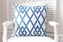 Fresh blue + white / There is something utterly summer fresh about blue paired with white. See examples here of how to bring the summer into your home all year round.