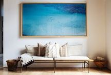 Art for your walls / Choosing art is very personal - the right choice can make all the difference to a room. The most important elements (other than that you love it!) are to get the scale right and hang it at the right level - generally lower than you think.