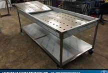 Mortuary Tables / Custom Made Stainless Steel Mortuary Tables from Sheffield. We recent shipped out a set of these to help in the African #Ebola outbreak.
