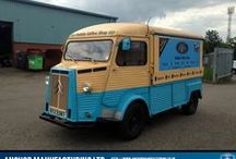 Mobile Cafe / Le Cafe Bleu is a mobile catering van refit designed to deliver coffee and foot at venues across the U.K.
