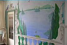 Murals & Trompe L'oeil Muurschildering / Decoratie van muren