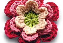 Crochet flowers and embellishments / For use on cards and decorating items.