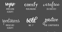 Typefaces & Fonts / Fonts, lettering and gorgeous typefaces - which ones are your favourites?