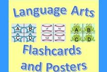 Language Arts Flashcards and Posters / This board features a variety of amazing language arts flash cards and posters to help keep students engaged and excited about learning!  I will be pinning a wide selection of amazing flash cards and posters to this board!  #flashcards #posters #reading #languagearts #preschool #kindergarten