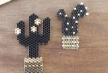 Broches, bracelets tissage perles / Tissage perles Miyuki