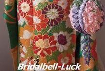 結婚式和装ボールブーケ・和装髪飾り / 結婚式の和装ボールブーケ・和装髪飾りを制作しております。造花のほか、水引やつまみ細工を取り入れ、和装を引き立たせます。