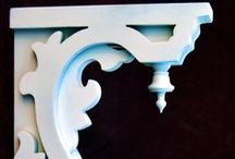 brackets,corbels e pediment