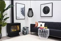 Cannon Homes / Featuring the living spaces and interior design of homes with Cannon Gas Log Heaters. Be ready for fireplace envy :)  Do you have a #cannonhome?
