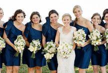 Blue - Lavendar / Wedding ideas: Navy, Grey, White, accent lavender