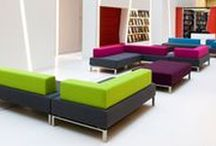 CORNER SOFAS / L shape sofa inspiration for practical and cool reception areas.