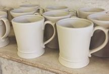 In our factory & studios / Behind the mugs at Qtique's studios.
