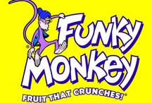 Funky Monkey Snacks / 100% fruit freeze-dried with no sugar added, gluten free, raw, kosher, nut-free, gluten-free,vegan, all natural, and delicious!