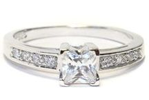 Diamond Promise Rings / Diamond promise rings and Imitation diamond promise rings (Cubic Zirconia)