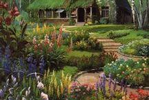 Cottage style / Cottage gardens, abundant flower borders / by Ilona's Garden