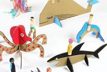 Cardboard Crafts / Make super kid crafts out of cardboard boxes!