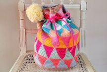 Crochet- Bags / Crocheted Bags, purses & pouches.
