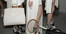 Hermes tennis theme runway / tennis fashion