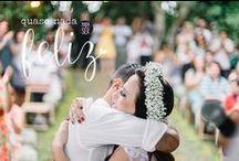"""Quase nada para ser feliz / """"Quase nada para ser feliz"""" é uma seção do Blog do casamento com publicações de casamentos singelos, criativos e super emocionantes, para você se inspirar e começar a planejar o seu ;)"""
