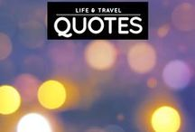 » Life & Travel Quotes / If you're ever looking for more life and travel inspiration, come visit my blog: http://iAmAileen.com