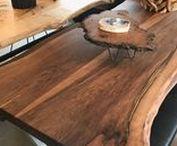Ağaç Masa / Ağaç masa, kütük masa, doğal ahşap masa, ahşap yemek masası, ağaç yemek masası,masif masa, masif yemek masası, ahşap masa, yemek  odası uygulamaları HVS Tasarım'da