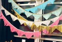 hang it: garland & banners / Our favorite garland & banners to use for a shower or party.  / by Pretty Little Showers