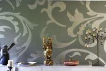 Wandgestaltung mit Schablonen / Großformatige Ornamente zur Farbgestaltung. Viele Infos und Tipps unter www.farbefreudeleben.de