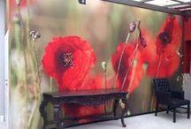 Digitale Tapeten und Drucke im Innenraum / Digitaldrucke auf Leinwand oder Tapete. Mehr Infos und Idee unter www.farbefreudeleben.de