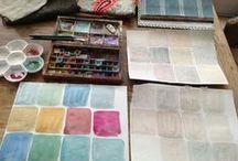 """farbige Wände / Gelungene Gestaltungen mit farbigen Wänden. Workshop """"sei dein eigener Interior Designer"""" bei www.farbefreudeleben.de"""