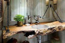 Wooden bathroom / I wish a wooden bathroom:)