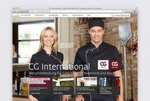 CG International |Corporate Design / Markenrelaunch des Berufsbekleidungsherstellers und einheitliche Gestaltung aller verkaufsfördernden Medien wie Kataloge, Folder oder auch Onlinemedien.