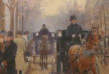 """BERAUD Jean - Détails / Paris, """"à la Belle Epoque"""" ; détails ...  +++ MORE DETAILS OF ARTWORKS : https://www.flickr.com/photos/144232185@N03/collections"""