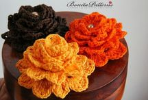 ╭☆ crochet flowers, leaves, snowflakes & granny squares