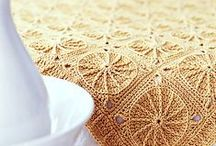╭☆ afghan, motives, granny mosaic, blanket,