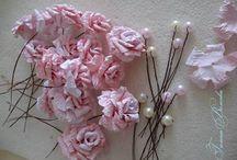 ╭☆ DIY handmade flowers fiori fleurs
