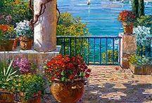 Huzur veren bahçeler ve saksı çiçekleri. / Çiçekler hakkında.
