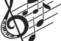 šablony - noty - muzika