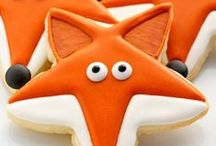 fox and crown / patterns for foxes and crowns, crochet, knitting, paper, food