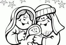 Vánoce-pracovní listy, omalovánky