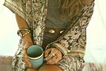 Bohemian fashion personality / boho-style fashion. individual, romantic, and free-spirited.