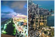 Mi' Chi'  ♡' / two cities... two lifestyles... ONE LOVE  Miami &Chicago